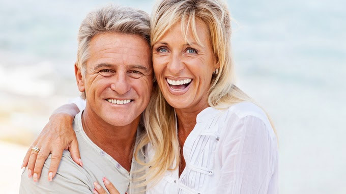Couple using Anti-Aging IV Therapy in Denver